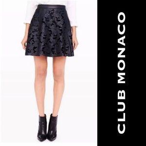 Club Monaco Nicolette Floral Leather Skirt Size 2